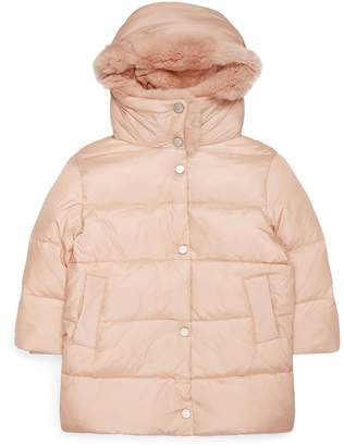Yves Salomon Rex Rabbit Collar Hooded Coat