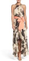 Eliza J Women's Floral Print Chiffon Maxi Dress