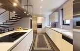 "Ottomanson Ottohome Collection Contemporary Bordered Design Modern Hallway Runner Rug, 2'7"" W x 9' 10""L, Chocolate"
