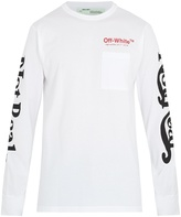 Off-White Surreal-print long-sleeved cotton T-shirt