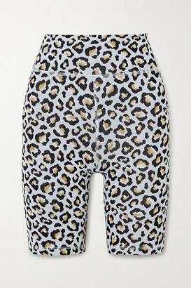 The Upside Leopard Jacquard-knit Shorts - Leopard print