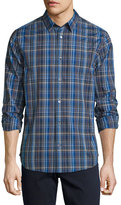 Vince Melrose Plaid Sport Shirt, Blue Multi