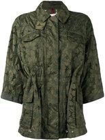 Moncler cropped sleeve raincoat - women - Polyamide - 1