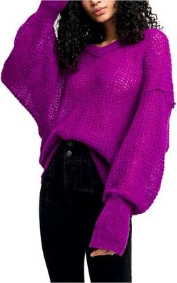 Free People Lulu Oversize V-Neck Sweater