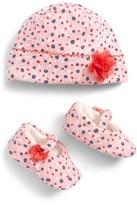 Kate Spade Infant Girl's Floral Cap & Shoe Gift Set - Pink