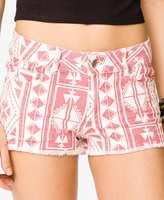 Forever 21 FOREVER 21+ Southwestern Print Denim Shorts