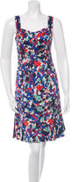 Tory Burch Floral Print Pleated Dress