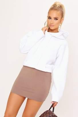 I SAW IT FIRST Mocha Jersey Mini Skirt