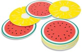 Sunnylife Watermelon and Pineapple Drink Coasters, Set of 16