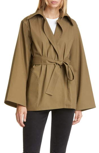 Sofie D'hoore Belted Cotton Twill Coat