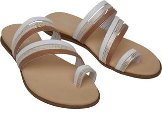 Fluid Womens Multi Strap Sandals Tan/Gold