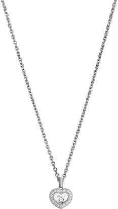 Chopard White Gold and Diamond Happy Diamonds Icons Pendant