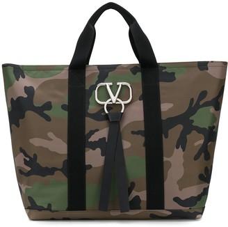 Valentino VRING logo tote bag
