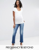 Bandia Maternity Over The Bump Boyfriend Jean With Removable Band