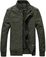 Jinmen Men's Military Style Air Force Jacket Military Coats