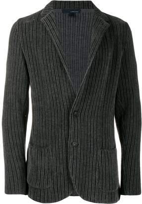 Lardini ribbed blazer jacket