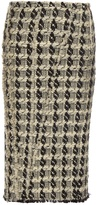 Rochas Tweed-checked pencil skirt