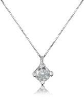 0.15 ct Diamond Solitaire Pendant 18K Gold Necklace