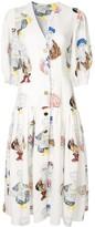 Tata-Naka Printed Midi Dress