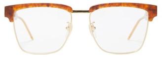 Gucci Browline Tortoiseshell-acetate And Metal Glasses - Mens - Tortoiseshell