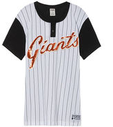 PINK San Francisco Giants Bling Campus Henley Tee
