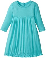 Kickee Pants Solid Swing Dress (Baby) - Glacier - 3-6 Months