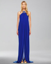 Michael Kors Jeweled Halter Gown
