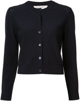 Carolina Herrera pointelle trim cardigan - women - Polyester/viscose - M
