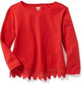 Old Navy Lace-Hem Scoop-Neck Tee for Toddler