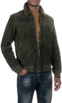 Scully Knit Collar Suede Baseball Jacket (For Men)