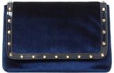 Dune Borriss Velvet Clutch Bag, Navy