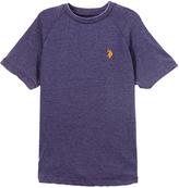 U.S. Polo Assn. Dodger Blue Heather & Gold Logo Crewneck Tee - Toddler