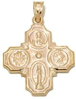 Michael Anthony Jewelry 10K Scapular 4-Way Cross Medal