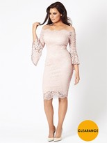 Jessica Wright Kelsea Nude Lade Midi Dress