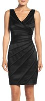 Chetta B Satin Panel Sheath Dress