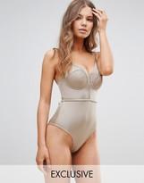 Asos FULLER BUST Exclusive Lattice Plunge Swimsuit DD-G
