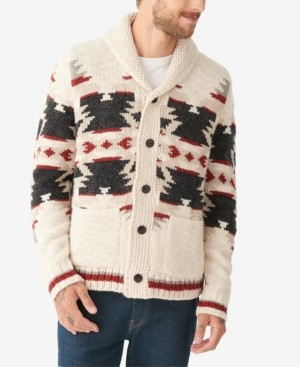 Lucky Brand Men's Sherpa-Lined Legacy Shawl Collar Cardigan Sweater