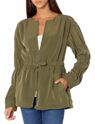 Kensie Women's Sandwashed Micro Fabric Jacket