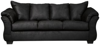 Signature Design by Ashley Signature Design by Ashley, Darcy Contemporary Black Sofa