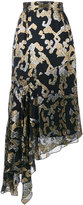 Peter Pilotto lurex pattern asymmetric midi skirt