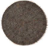 Twos Company Guinea Fowl Feather Placemats (Set of 6)