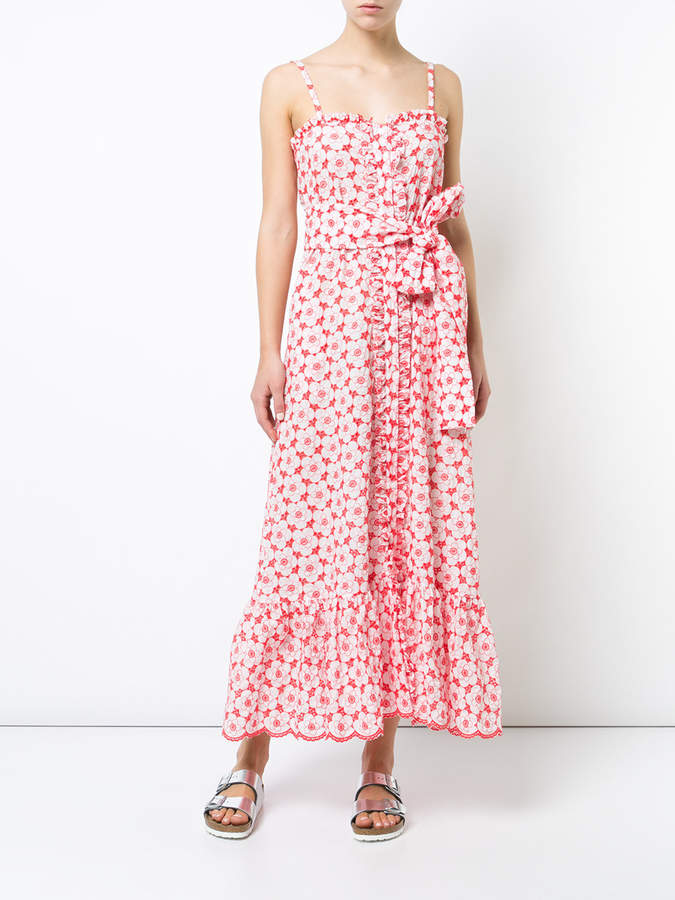 Lisa Marie Fernandez Long floral print sundress