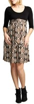 Maternal America Women's Ikat Print Tie Front Dress