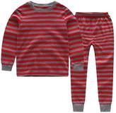 CNBABY Color Stripe Toddler Boy Pajamas 100% Cotton (4 Toddler, )
