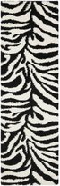 Safavieh SG452-1290-27 Zebra Shag Collection Runner, 2-Feet 3-Inch by 7-Feet
