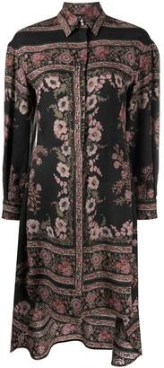 Etro Placed Floral Print Shirt Dress