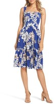 Eliza J Women's Floral Print Fit & Flare Dress