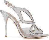 Sophia Webster sling-back metallic sandals - women - Calf Leather - 35.5