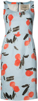 Carolina Herrera cherry print sleeveless dress