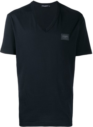 Dolce & Gabbana V-neck logo T-shirt